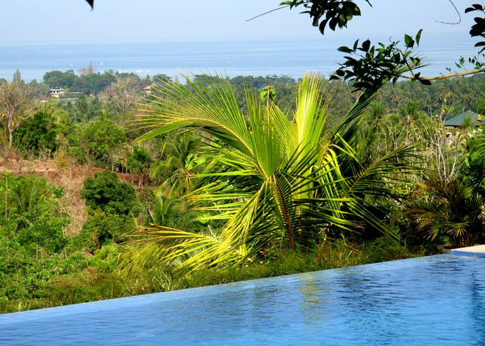 from Villa and pool: view over the North coast of Bali