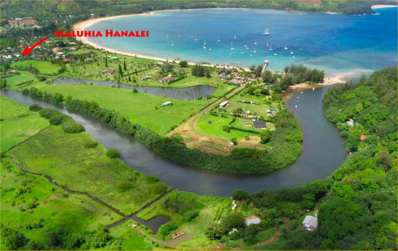Magnificent Hanalei Bay and your very own suite just a block away