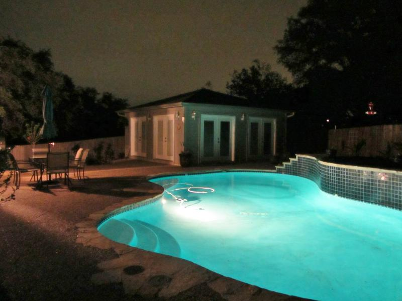 Your private pool after dark.  :)