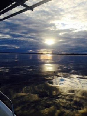 Sonnenuntergang am Fluss 16. November 2013