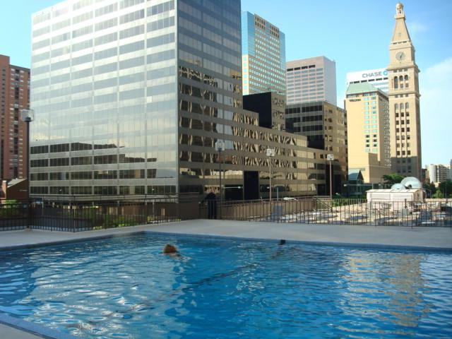 ROOF-TOP POOL IS OPEN MAY-SEPTEMBER