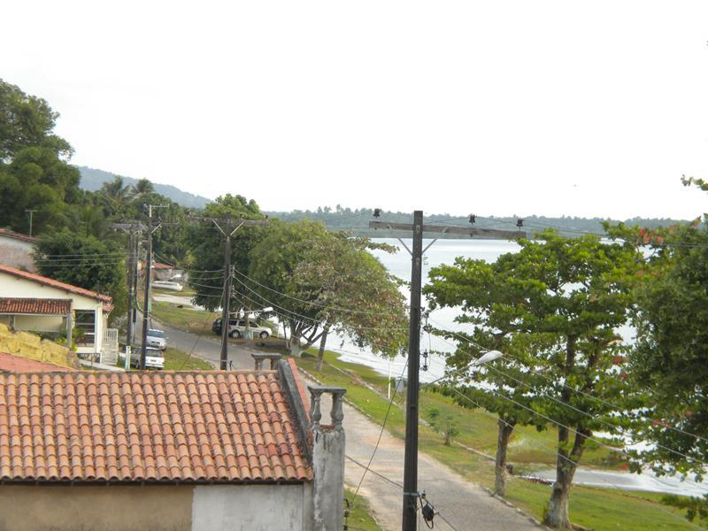 Vista da esquerda da vila pela lateral da cobertura