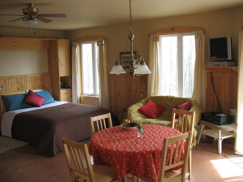 Cosy accommodation surrounded by nature! Two modern, spacious, self-catering chalets, holiday rental in North Hatley