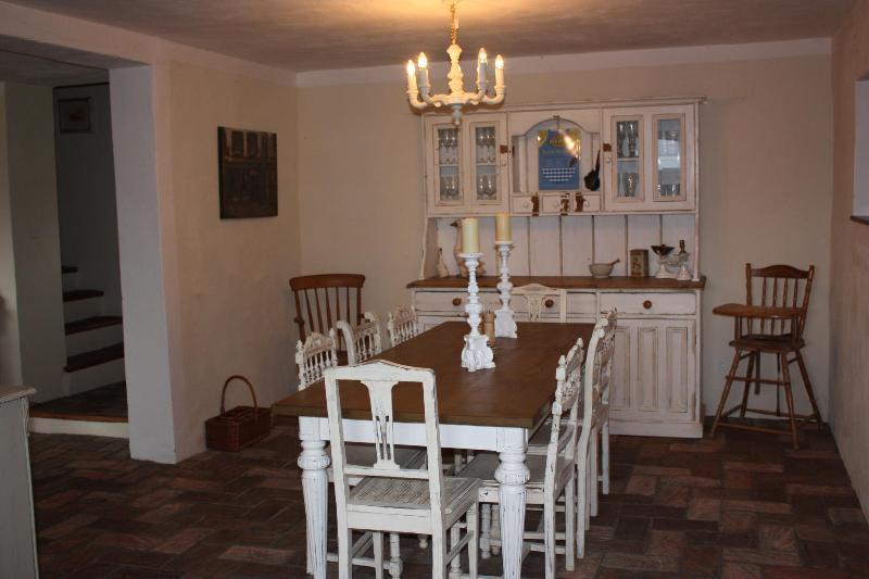 Spacious farmhouse style dining