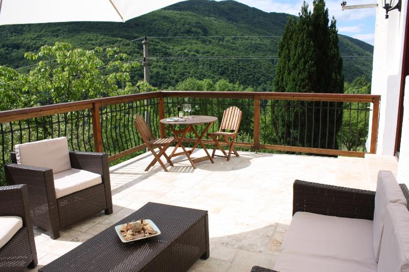 Enjoy superb mountain views whilst relaxing on the terrace