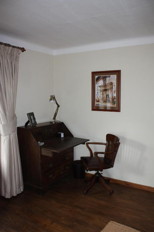 Antique writing desk in second lounge area