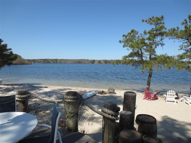 Seymour Pond from deck.  Your backyard is the beach!