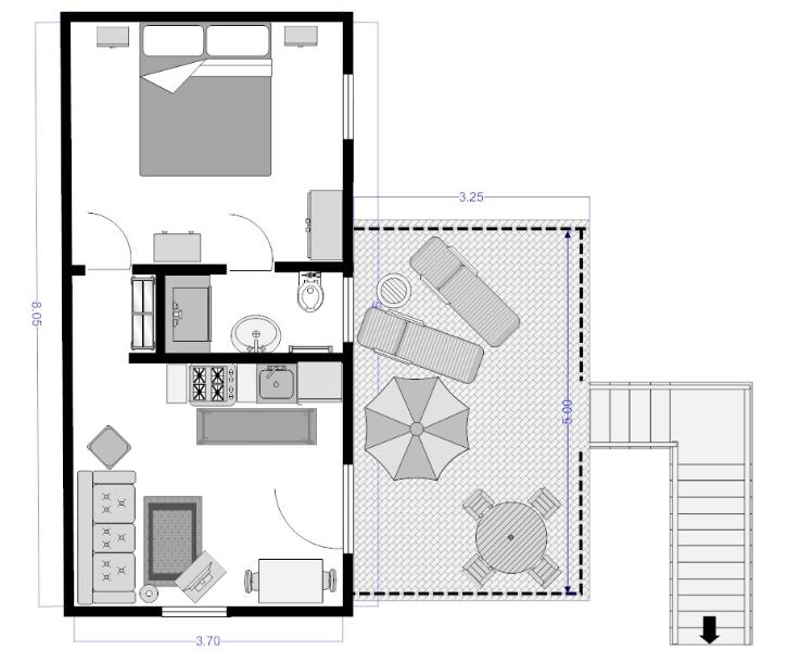 Rondine apartment floor plan