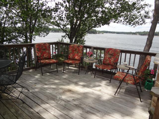 View of Deck & Lake