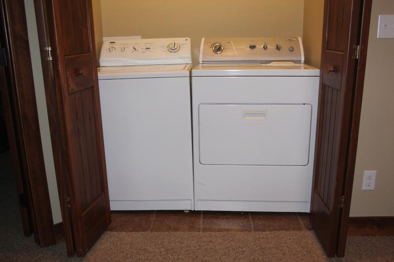Upstairs Fullsize Washer and Dryer