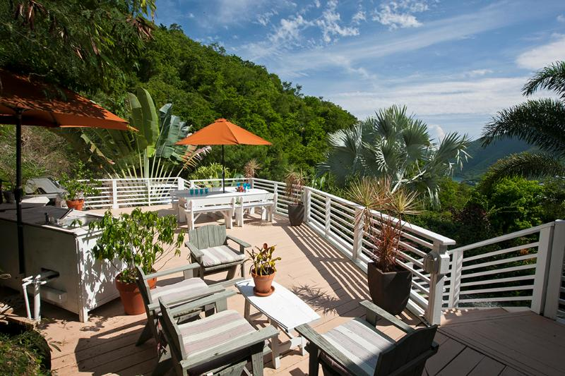 Sun deck with picnic table, grill