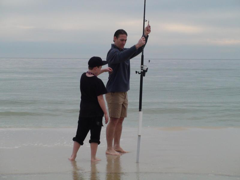 Fishing in front of Ocean Breeze East January 2, 2014.