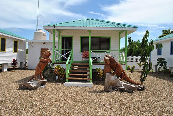 Green Iguana Cabana at Latitude Adjustment in Hopkins Belize