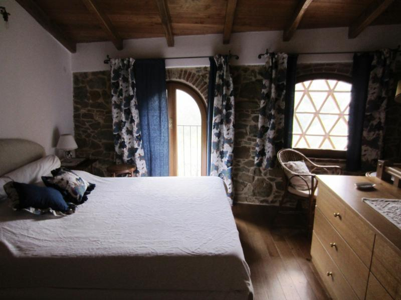the bedroom with 2 windows