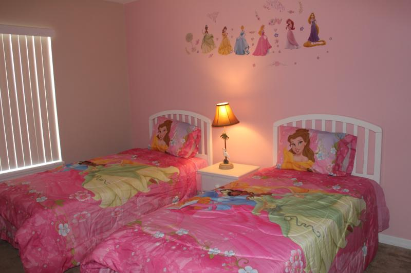 Upstair girls' room with two twin beds