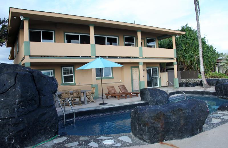 Honu Villa facing the ocean and pool.