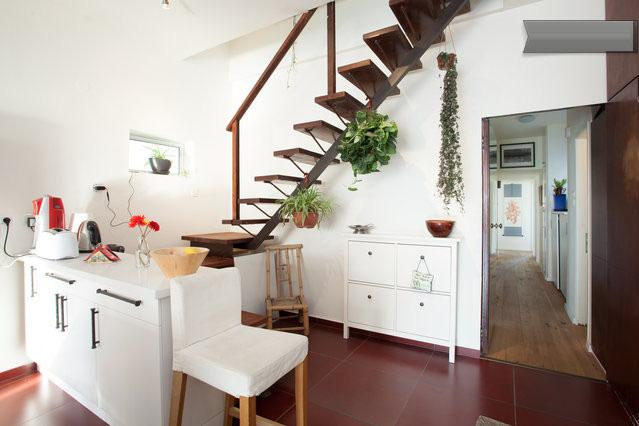 Stairwell to Roof and Hallway to Bedrooms