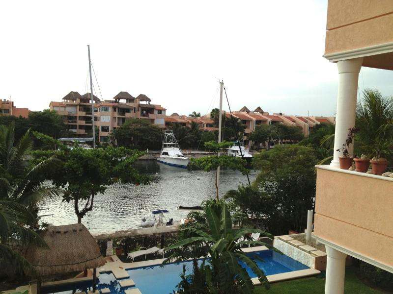 View of the canal from our terrace