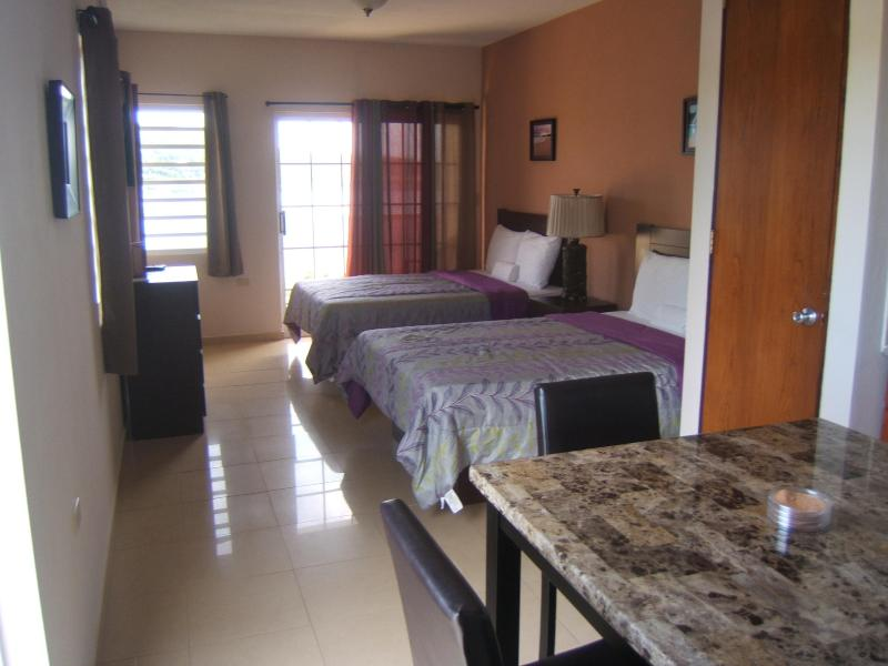 View of beds area for 2 guest villa