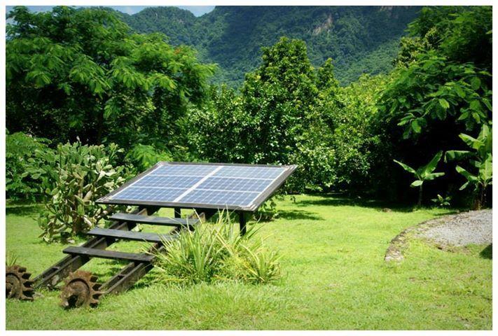 Nuestro panel solar trabaja duro