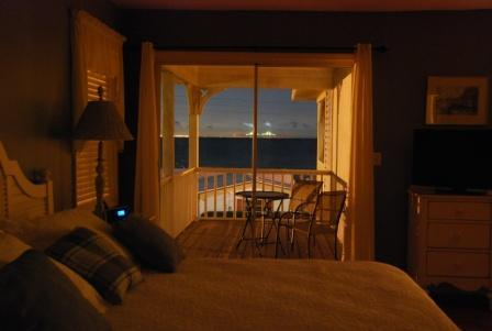 Master Suite view at night