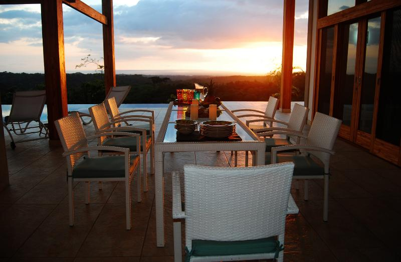 Dine in with the magnificent sun set