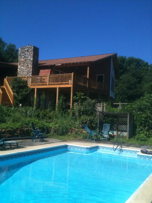 The back of the house with pool