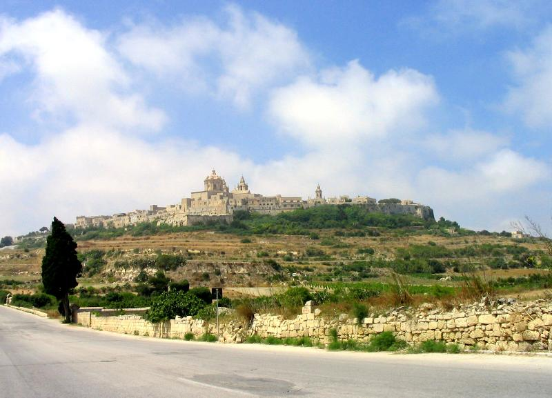 Mdina (old capital) can be seen from roof