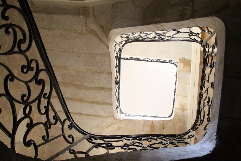 There is an elevator, as well as this historic staircase