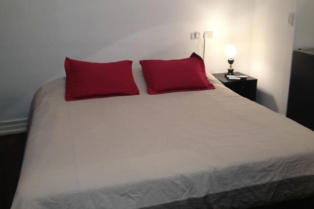 Queen Size Bed, met de winter bedspread.