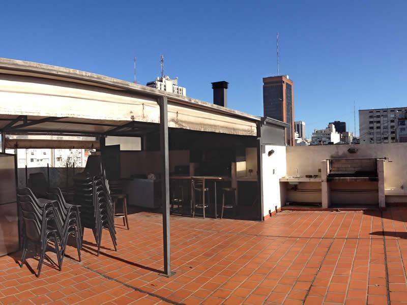 Terras op het dak, met BBQ