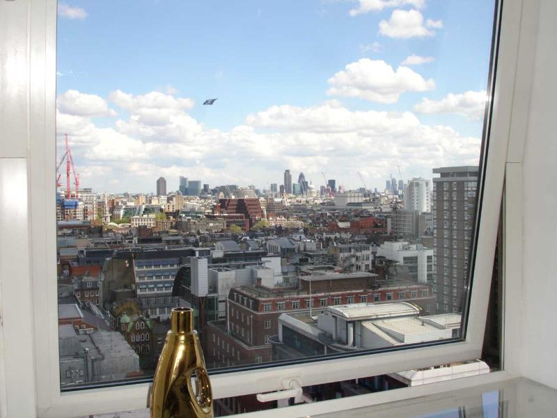 View over all of Central London from breakfast table