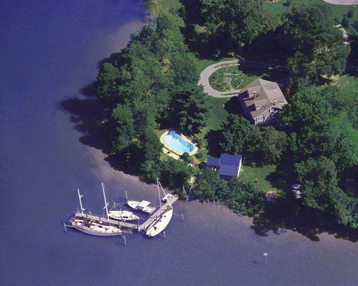 Bay Cottage, St. Michaesl, MD Waterfront Vacation Retreat aerial