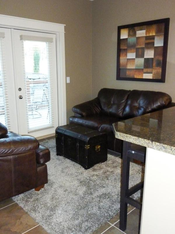 Quite Sitting Area with Double Doors to Back Patio
