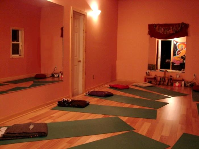 Yoga studio on premises