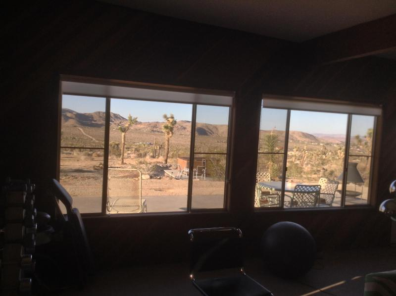 View out windows facing north towards private patio and  20+ acres of open desert!