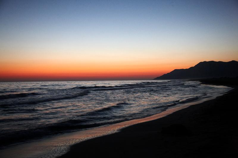 Sunset in Patara Beach