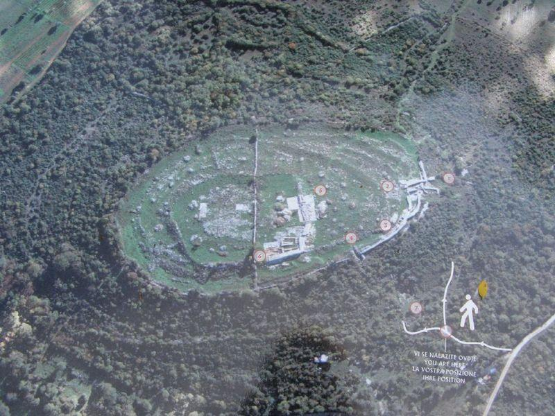 Archeological site Monkodonja - local area - aerial view