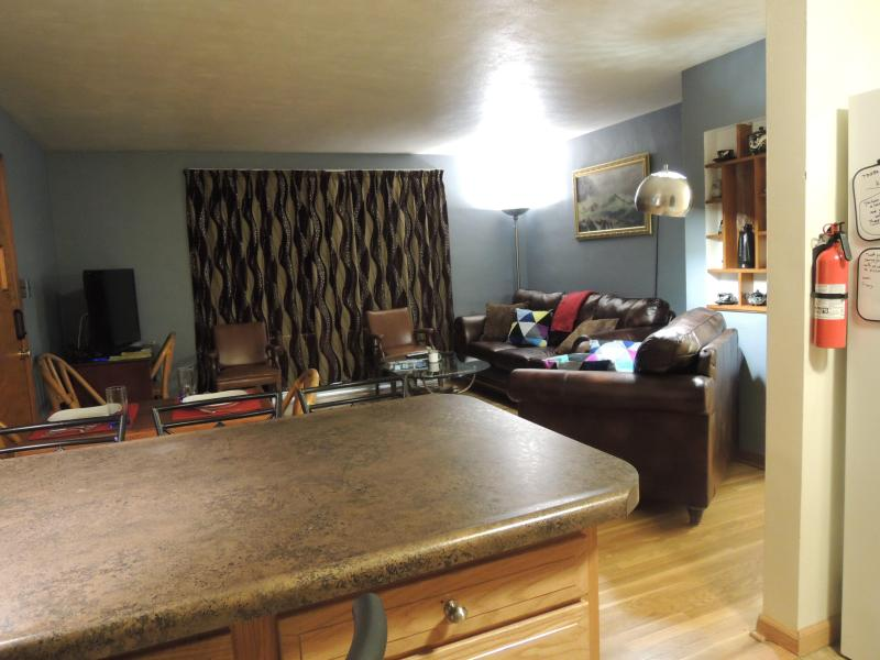 into living room from kitchen