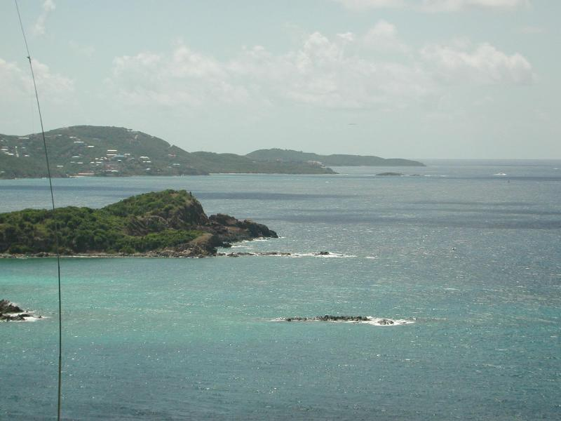 view from the talking rock looking at Frenchman's Reef Hotel