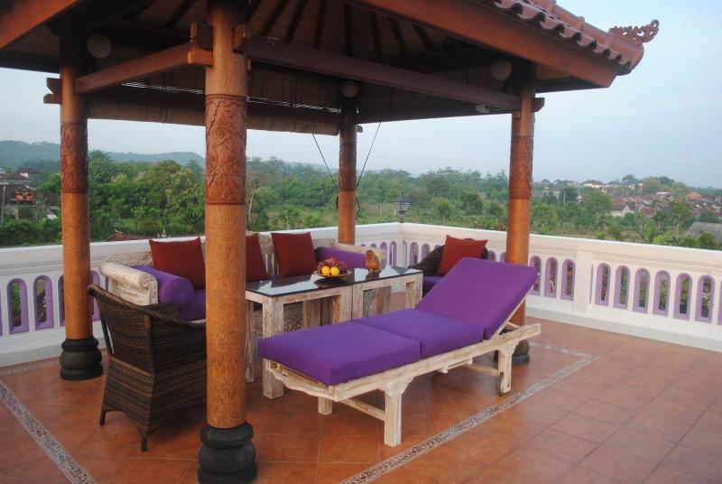 The Gazebo on the private Rooftop terrace is a great place for watching sunsets and sunrise.