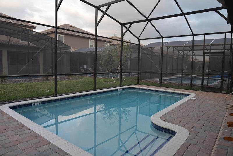 Full size, enclosed heated swimming pool