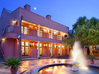 Enjoy morning or evening in this lovely courtyard at the inn.