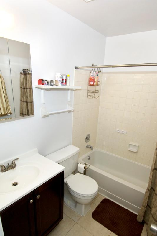 Bathroom with shower&tub-combination