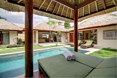 swimming pool view from gazebo