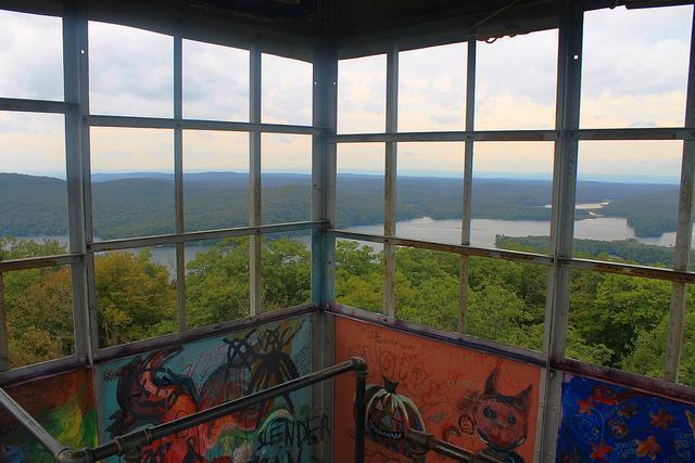Vista da torre de fogo montanha Kane