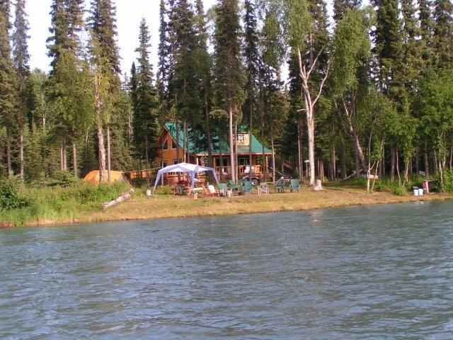 Kenai River Cabin For Rent with Great Bank Fishing For Salmon.
