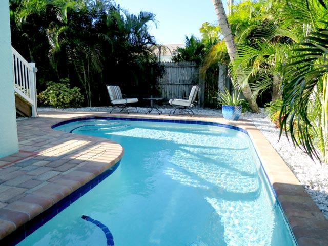 Heated pool view 2