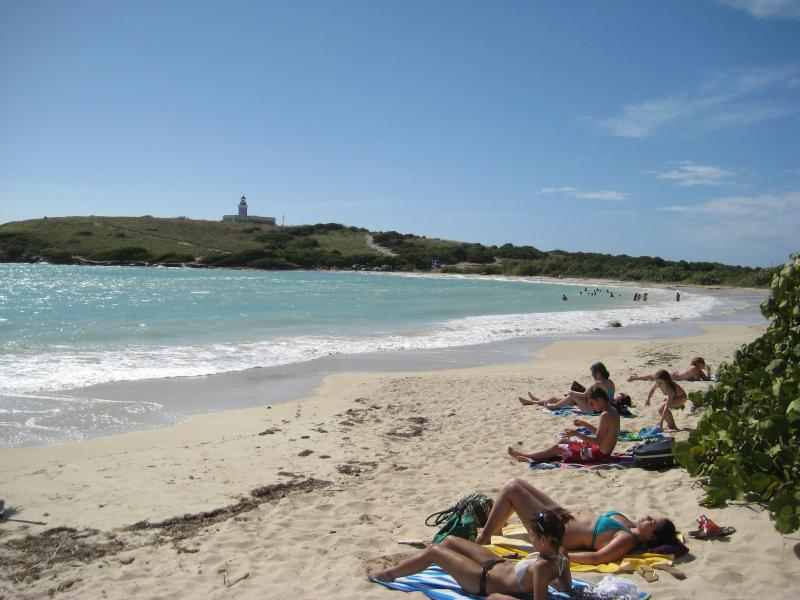 Beach at Cabo Rojo Light, stunning