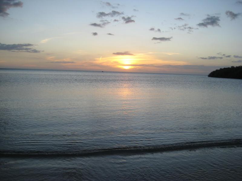 Sunset from Villa Taina beach
